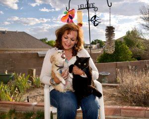 Albuquerque City Councilor Cynthia Borrego with her pets